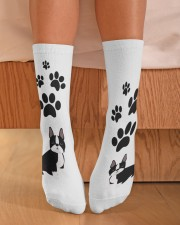 Crew Length Socks - Dog Socks  Crew Length Socks aos-accessory-crew-length-socks-lifestyle-front-02