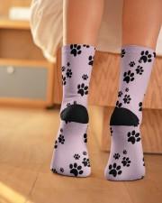 Dog Socks Crew Length Socks aos-accessory-crew-length-socks-lifestyle-back-01
