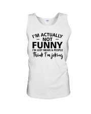 I'm actually not funny i'm just mean and people Unisex Tank tile