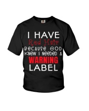 I have red hair because god knew i needed Youth T-Shirt front