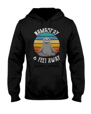 Namast'ay 6 Feet Away Sloth shirt Hooded Sweatshirt thumbnail