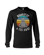 Namast'ay 6 Feet Away Sloth shirt Long Sleeve Tee thumbnail