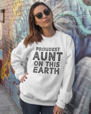 proudest aunt on this earth shirt Crewneck Sweatshirt lifestyle-unisex-sweatshirt-front-3