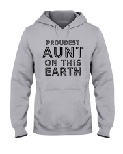 proudest aunt on this earth shirt Hooded Sweatshirt tile