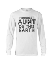 proudest aunt on this earth shirt Long Sleeve Tee tile
