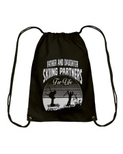 Father and Daughter - Skiing Partners For Life Drawstring Bag thumbnail