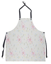 Graphic hearts love and dots design background Apron thumbnail