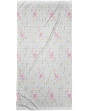 Graphic hearts love and dots design background Bath Towel thumbnail