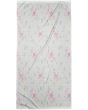 Graphic hearts love and dots design background Premium Beach Towel thumbnail