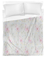 Graphic hearts love and dots design background Duvet Cover - Twin XL thumbnail