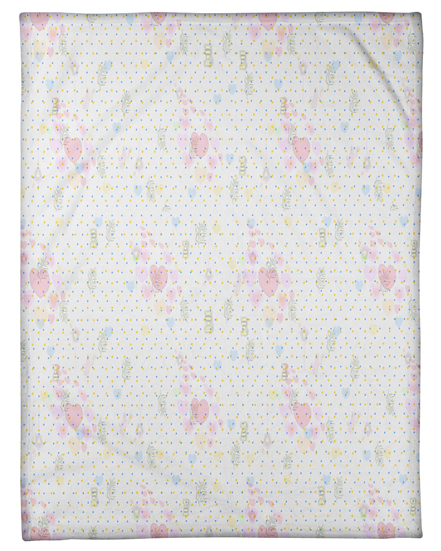 """Graphic hearts love and dots design background Small Fleece Blanket - 30"""" x 40"""""""