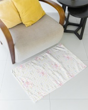 Graphic hearts love and dots design background Woven Rug - 3' x 2' aos-woven-rugs-3x2-lifestyle-front-04