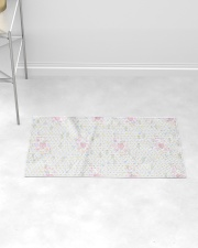 Graphic hearts love and dots design background Woven Rug - 3' x 2' aos-woven-rugs-3x2-lifestyle-front-06