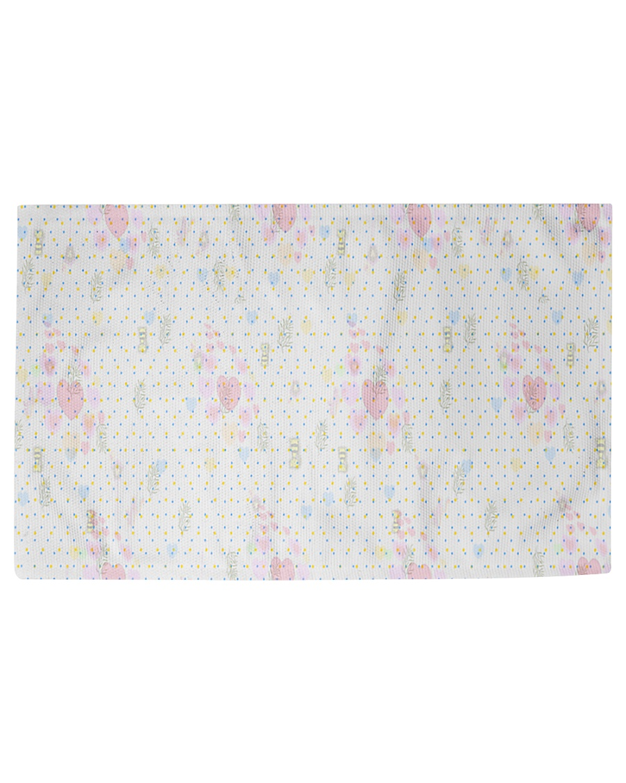 Graphic hearts love and dots design background Woven Rug - 3' x 2'