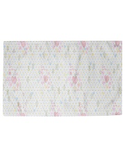 Graphic hearts love and dots design background Woven Rug - 3' x 2' front