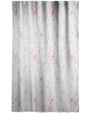 Graphic hearts love and dots design background Window Curtain - Sheer thumbnail