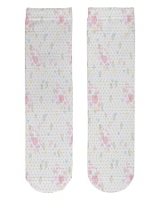 Graphic hearts love and dots design background Crew Length Socks thumbnail