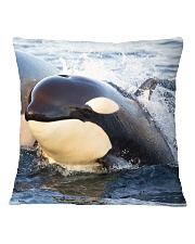 Support Norwegian Orca Survey Square Pillowcase tile