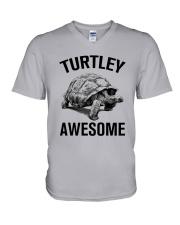 TURTLEY AWESOME V-Neck T-Shirt thumbnail