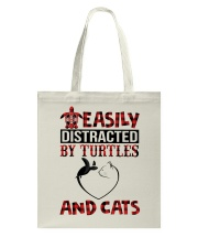 EASILY DISTRACTED BY TURTLES AND CATS Tote Bag thumbnail