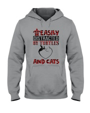 EASILY DISTRACTED BY TURTLES AND CATS Hooded Sweatshirt thumbnail