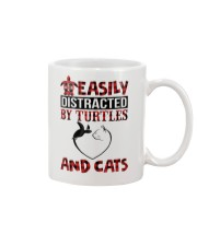 EASILY DISTRACTED BY TURTLES AND CATS Mug thumbnail