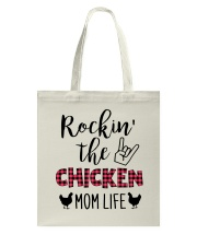 ROCKIN' THE CHICKEN MOM LIFE Tote Bag thumbnail