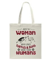 TURTLES AND DOGS Tote Bag thumbnail