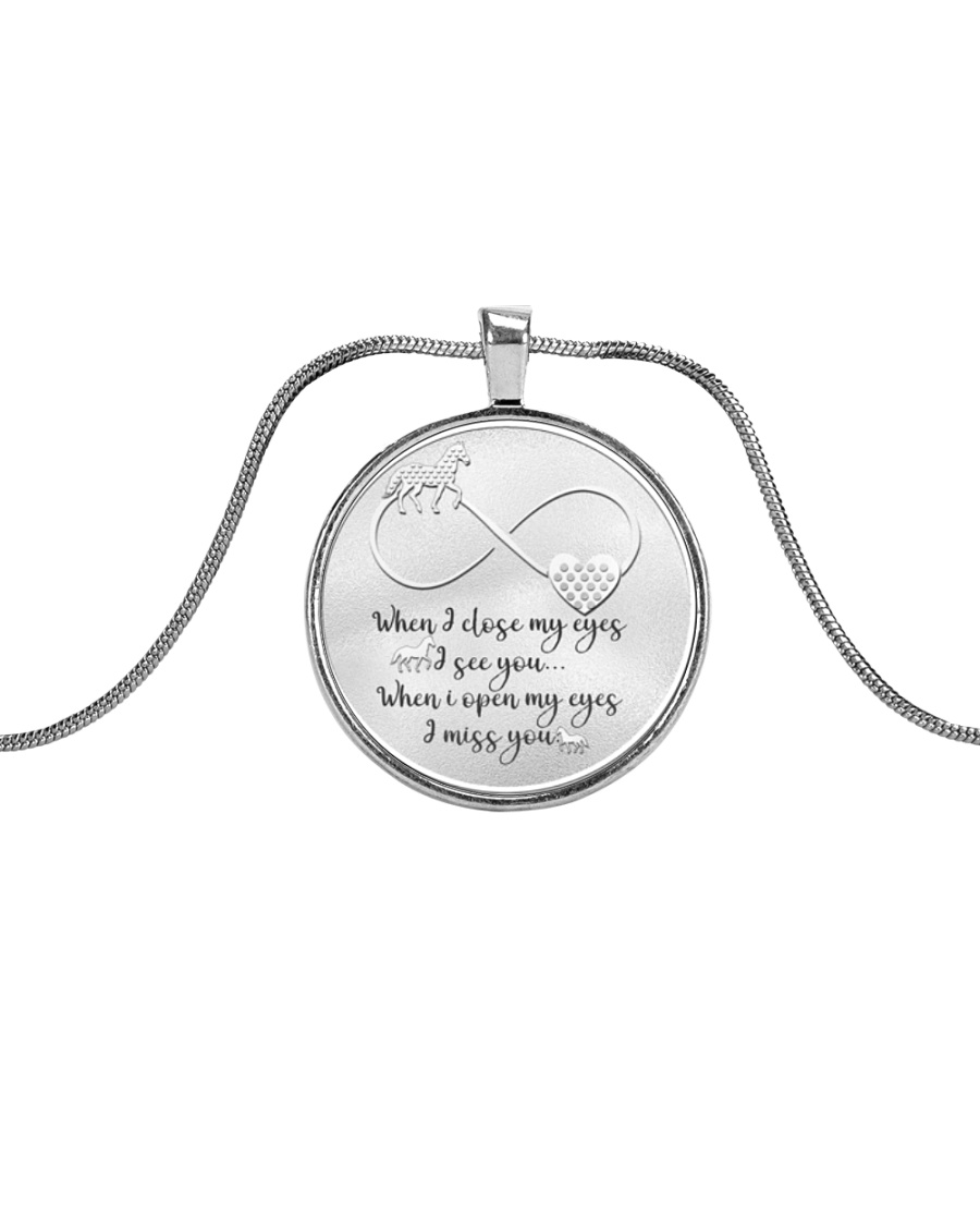 LIMITED EDITION Metallic Circle Necklace