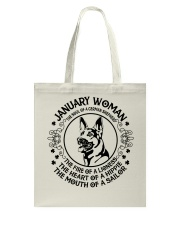 JANUARY WOMAN Tote Bag thumbnail