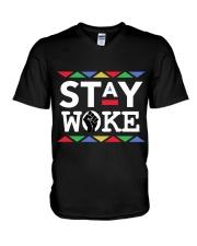 STAY WOKE V-Neck T-Shirt thumbnail