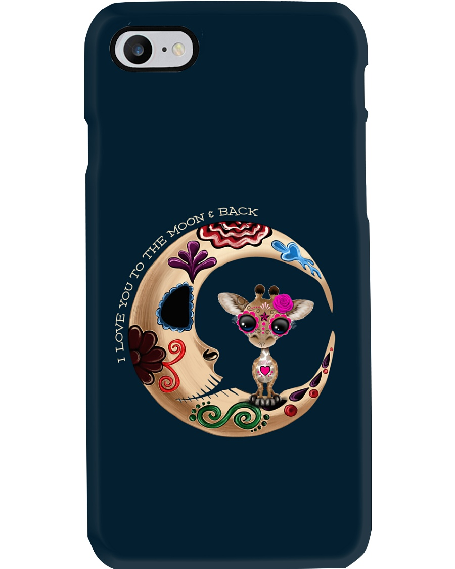 GIRAFFE LOVE YOU TO THE MOON AND BACK Phone Case