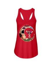 GIRAFFE LOVE YOU TO THE MOON AND BACK Ladies Flowy Tank front