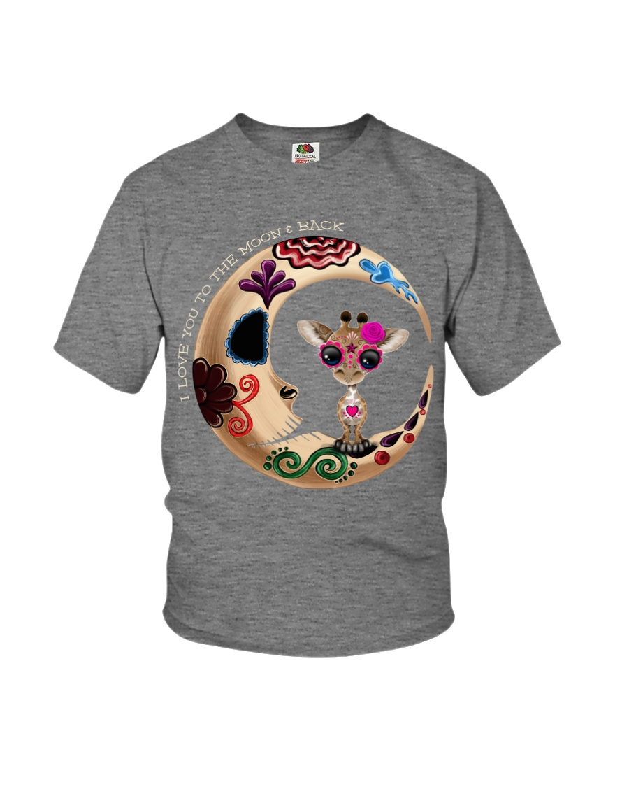 GIRAFFE LOVE YOU TO THE MOON AND BACK Youth T-Shirt