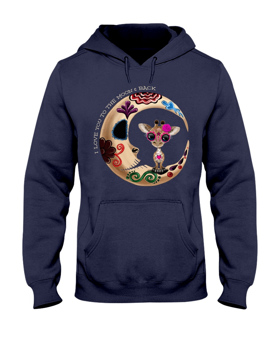 GIRAFFE LOVE YOU TO THE MOON AND BACK Hooded Sweatshirt showcase