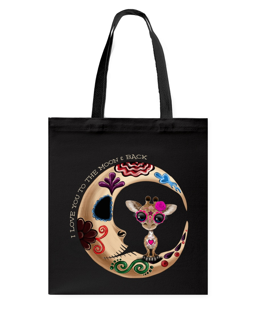 GIRAFFE LOVE YOU TO THE MOON AND BACK Tote Bag