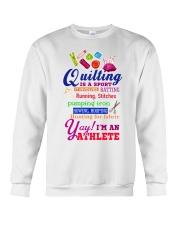 QUILTING IS A SPORT Crewneck Sweatshirt thumbnail
