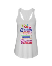 QUILTING IS A SPORT Ladies Flowy Tank thumbnail