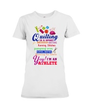 QUILTING IS A SPORT Premium Fit Ladies Tee thumbnail