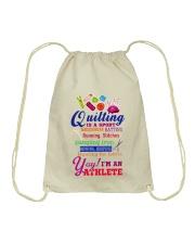 QUILTING IS A SPORT Drawstring Bag thumbnail