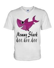 MOMMY SHARK V-Neck T-Shirt thumbnail