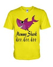MOMMY SHARK V-Neck T-Shirt front