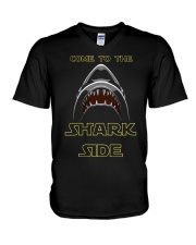 COME TO THE SHARK SIDE V-Neck T-Shirt tile