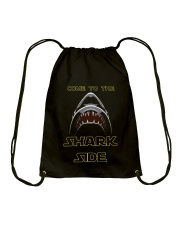 COME TO THE SHARK SIDE Drawstring Bag tile