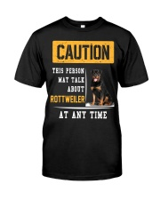 THIS PERSON MAY TALK ABOUT ROTTWEILER AT ANY TIME Premium Fit Mens Tee thumbnail