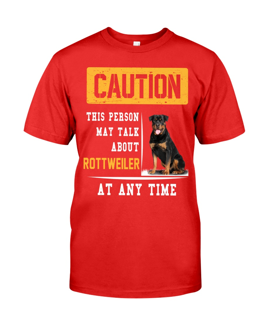 THIS PERSON MAY TALK ABOUT ROTTWEILER AT ANY TIME Premium Fit Mens Tee