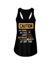 THIS PERSON MAY TALK ABOUT ROTTWEILER AT ANY TIME Ladies Flowy Tank thumbnail
