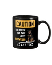 THIS PERSON MAY TALK ABOUT ROTTWEILER AT ANY TIME Mug tile