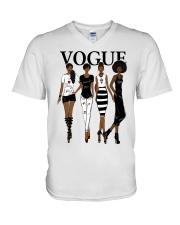 V0GUE QUEEN V-Neck T-Shirt thumbnail