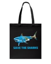 SAVE THE SHARKS Tote Bag thumbnail